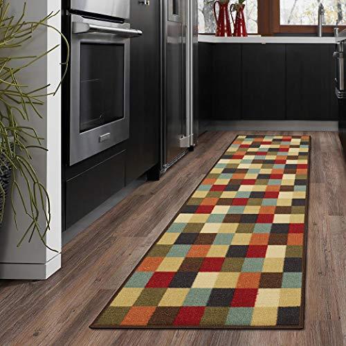 Ottomanson otto home collection runner rug, 20″ X 59″, Multicolor Checkered