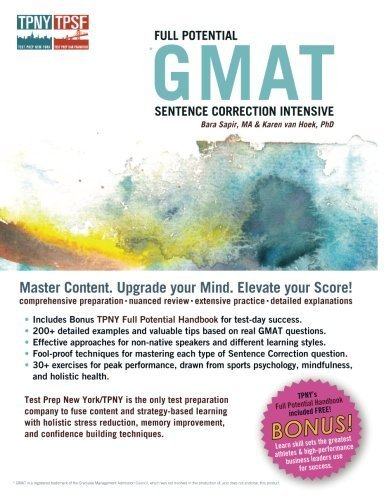 Full Potential GMAT Sentence Correction Intensive by Bara Sapir (2013-10-01)