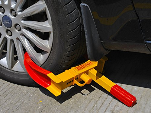 Goplus Heavy Duty Trailer Lock Wheel Clamp, Adjustable Anti-theft Tire Lock 5.3-lb Boot for Car Truck RV Boat Trailer Automotive Golf Carts w/Three Keys by Goplus (Image #1)