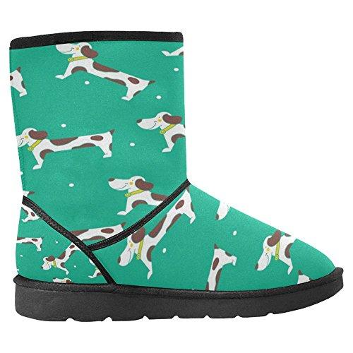 InterestPrint Womens Snow Boots Unique Designed Comfort Winter Boots Cute Dogs Multi 1 u1M4bus
