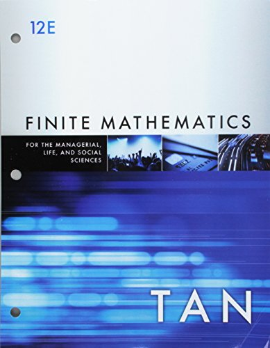 Bundle: Finite Mathematics for the Managerial, Life, and Social Sciences, Loose-leaf Version, 12th + WebAssign, Single-Term Printed Access Card