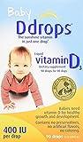 Baby D Drops Liquid Vitamin D3, 400 iu per Drop, 0.08 oz per Box (8 Pack)