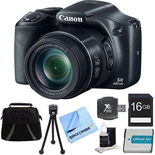 Canon PowerShot SX530 HS 16MP 50x Opt Zoom Full HD Digita...