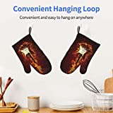 FONSMAY Cooking Gloves,Fire Electric Guitar Oven
