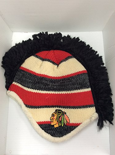 Adult Equipment Hat Reebok - Chicago Blackhawks Mohawk Knit Fashion Color Reebok Adult Winter Hat