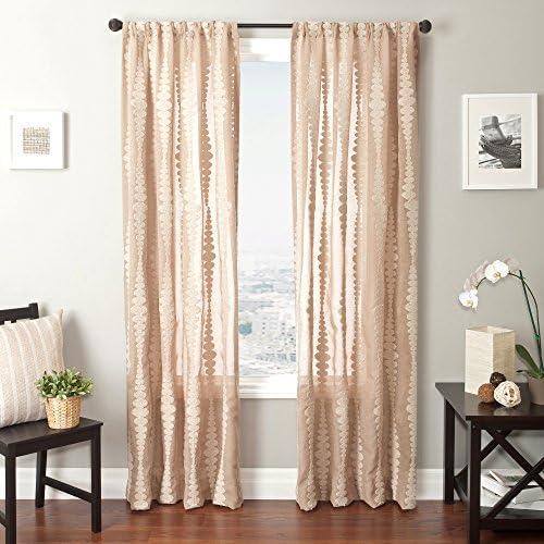 Softline Home Fashions Cozumel Series Boucle Window Curtain/Drape/Panel/Treatment