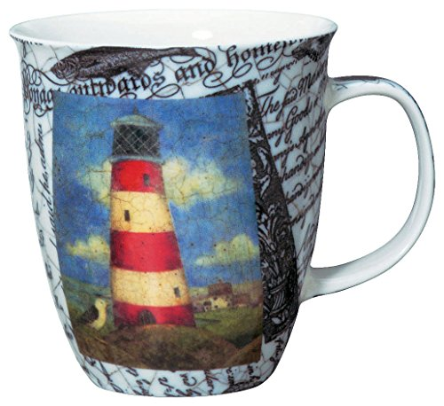 Coastal Beach Harbor Lighthouse Coffee Latte Mug