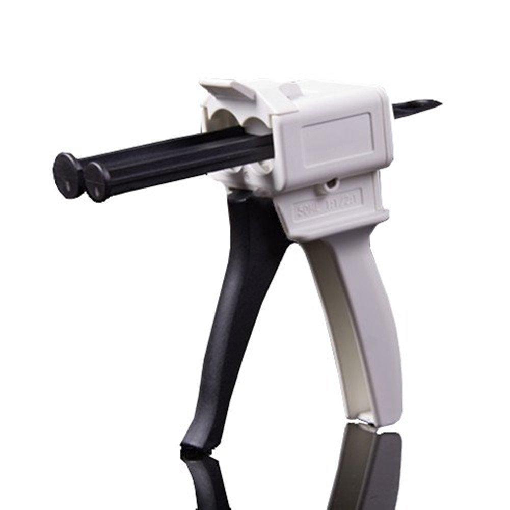 SDent 1PC Dental Silicon Injection Dispenser Gun Dental Silicone Cartridge Syringes Impression Material Light Body Dispenser Gun for 50ml 1:1/2:1 Silicon Rubber Impression Materials type3