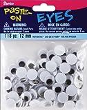 Paste On Wiggle Eyes 12mm 118/Pkg-Black