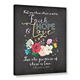 ArtWall Jo Mouton's Faith Hope & Love Gallery Wrapped Canvas Print, 36 x 48''