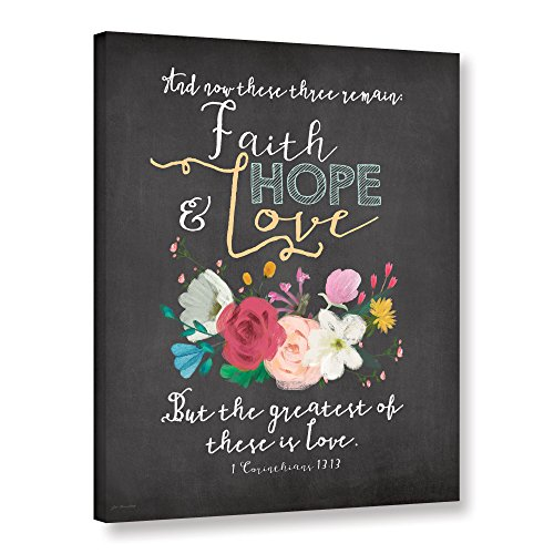 ArtWall Jo Mouton's Faith Hope & Love Gallery Wrapped Canvas Print, 36 x 48'' by Art Wall