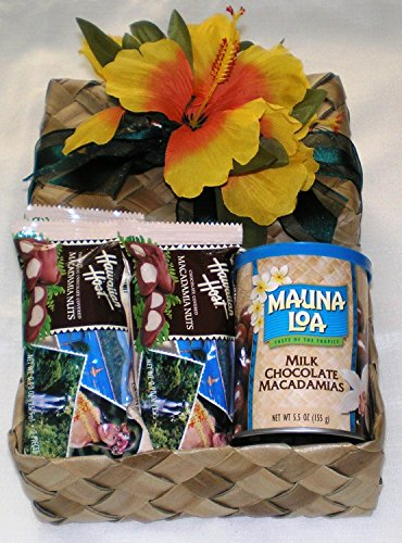 Milk Chocolate Macadamia Nuts & Chocolate Covered Macadamia Nuts Gift Basket #2