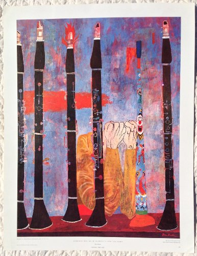 Ben Shahn COMPOSITION WITH CLARINETS AND TIN HORN Print THE DETROIT INSTITUTE OF ARTS (LARGE 27