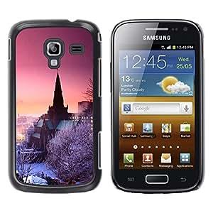TopCaseStore / la caja del caucho duro de la cubierta de protección de la piel - Nature Purple Pink Winter Sky - Samsung Galaxy Ace 2 I8160 Ace II X S7560M