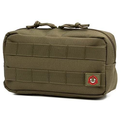 Orca Tactical MOLLE Horizontal Admin Pouch Utility EDC Tool Bag (OD Green)