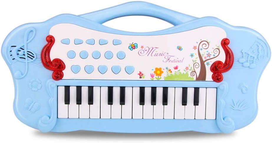 Taille: 38x8x19cm B/éb/é Petit Piano Infantile Enfants D/ébutants Clavier /Électronique Multifonctionnel Lumi/ères Mise en Oeuvre Gar/çons et Filles Musique Jouets Convient pour 1-3 Ans