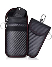 Lanpard 2 pezzi RFID borsa Faraday,Mini borsa per blocco segnale chiave auto,Segnale bloccato al 100%,Blocca i segnali delle auto clonato,Piccola auto antifurto…… (S)