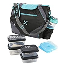 Fit and Fresh Jaxx FitPak Ares with Portion Control Container Set, Teal by Fit & Fresh