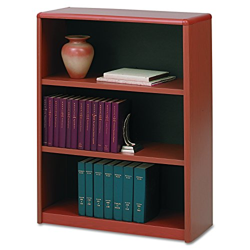 (Safco Products 7171CY ValueMate Economy Bookcase, 3-Shelf, Cherry)