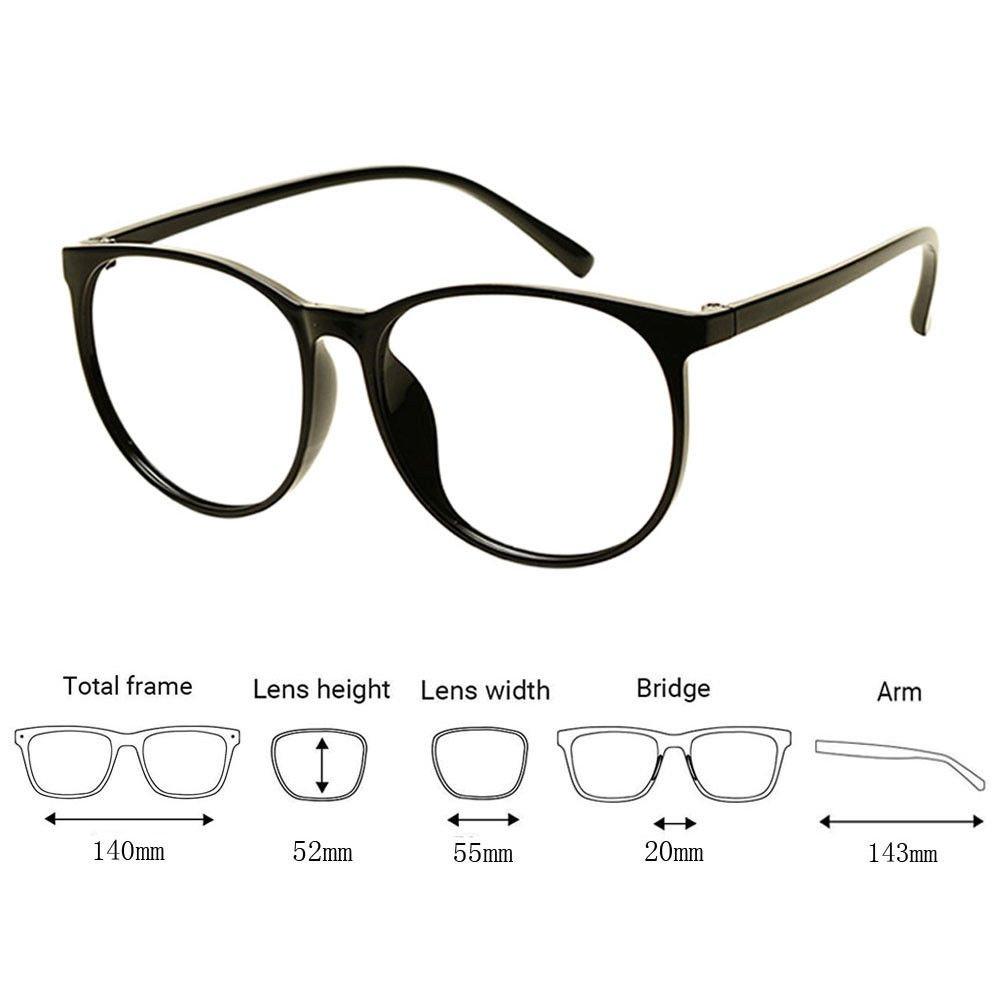 Xinvision Poids léger TR90 Rétro Plein cadre Étudiant Lunettes finis Gros  Cadre rond Myopie Eyeglasses Femmes Hommes Myope Spectacles Intensité -0.5~- 6.0 ... d46ce4dacfc