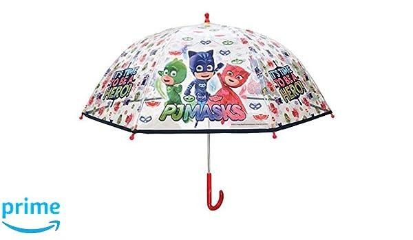 Chanos PJ Masks Manual Dome Shape PoE Transparent Folding Umbrella, 45 cm, White Paraguas Plegable, Blanco (White): Amazon.es: Juguetes y juegos