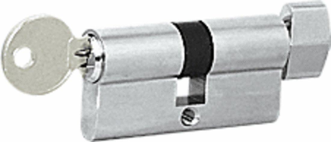 CRL Brushed Stainless Keyed Alike Cylinder Lock with Thumbturn