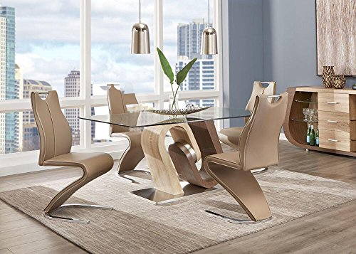 Britney 5 Pc. Dinette - Walnut Finish Dinette