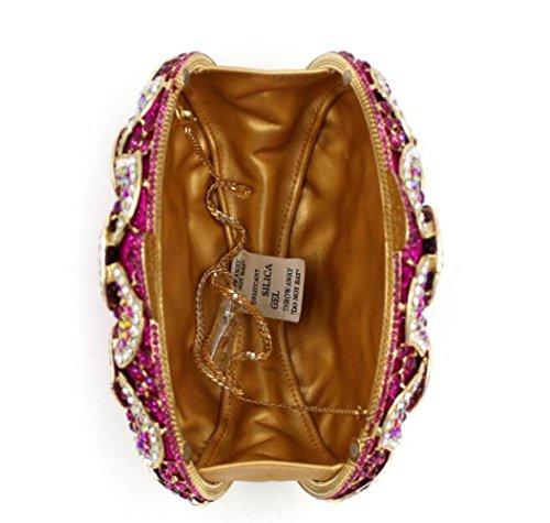 Imitacin Bolsas Noche Diamantes De Hueco Rosered De Lujo Metal De Seoras WLFHM De Bolsos Embrague Cristal Diamantes Bolsas 8qwRt7vt