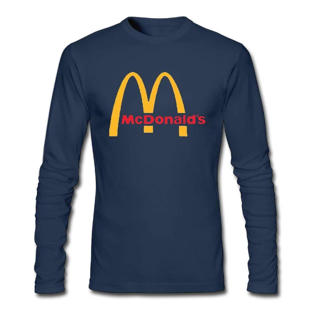 72ac175447b8 Men's Casual McDonalds Logo Tee T Shirt Long Sleeve O-Neck Cotton T-Shirt  Sports Fitness Tops Plus Size Shirts for Men at Amazon Men's Clothing store: