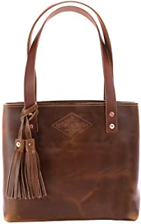 product image for Small Deluxe Leather Tote Bag For Women, Small Leather Bag, Leather Handbag, Gift for Her, Diaper Bag, Laptop Bag, Handmade