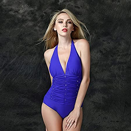 fa19dde8ccd QPLA Clothing Thatch Fashion Sexy Women Swimsuit Swimwear Swimsuit Bikini, Sapphire  Blue, 4XL: Amazon.co.uk: Kitchen & Home