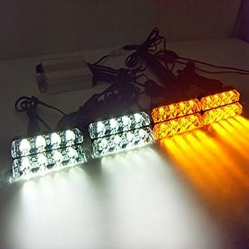 vsled luces de emergencia 8 x 4 LED parrilla coche camión ...