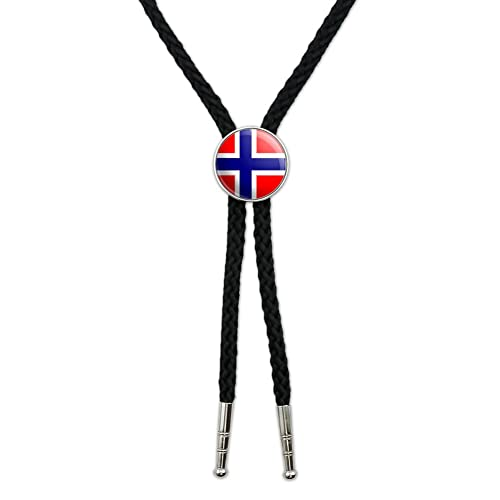 Graphics and More Norway Norwegian Flag Western Southwest Cowboy Necktie Bow Bolo Tie