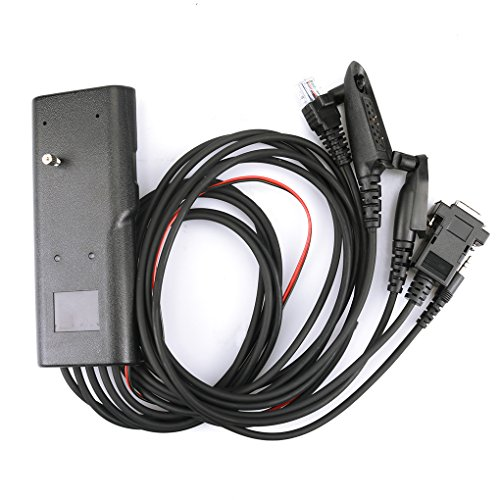 Loria 5 in 1 Programming Cable for Motorola GP88 GP300 GP340 GP328 Plus GP2000 GP3188 CP150 CB Two Way Radio GM300 Mobile Radio