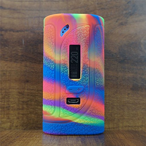 ModShield for Eleaf iKonn 220W TC Silicone Case ByJojo Skin Cover Sleeve Wrap Shield (Rainbow)