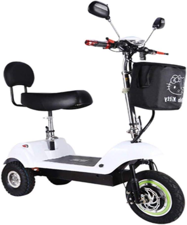 XYDDC Mini Scooter eléctrico Plegable portátil para Adultos/Ancianos Viajes de Placer Scooter eléctrico Plegable de Litio de la batería del Triciclo