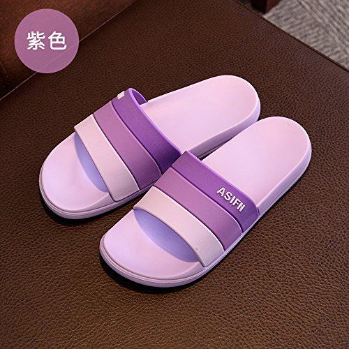 de El Zapatillas cool interior macho zapatillas estancia casa Baño baño par antideslizante Zapatillas verano DogHaccd desgaste Morado2 verano de qSxCEZnwT