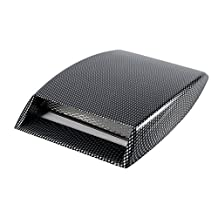 Yosoo Plastic Universal Car Decorative Air Flow Intake Scoop Turbo Bonnet SUV Vent Cover (Carbon Fiber)