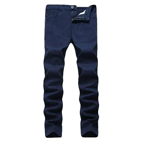Pantalones De Mezclilla De La Moda De Los Hombres Slim Fit ...
