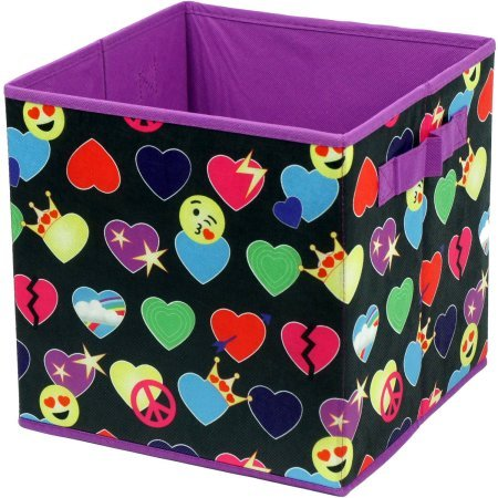 EmojiPals Purple All Over Collapsible 2 Pack Soft Storage Cubes