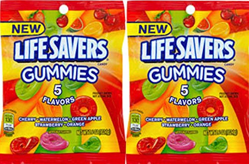 Lifesavers Gummies Original Gummy Snacks Snack Care Package for College, Military, Sports Net WT 3.6 Oz (2) -