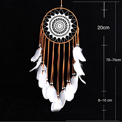 NOOS Indian Circle Dream Catcher Wind Chimes Colorful Dream Catchers Feather Traditional Style Pendant Wall Hanging Home Decoration Gift by NOOS (Image #1)