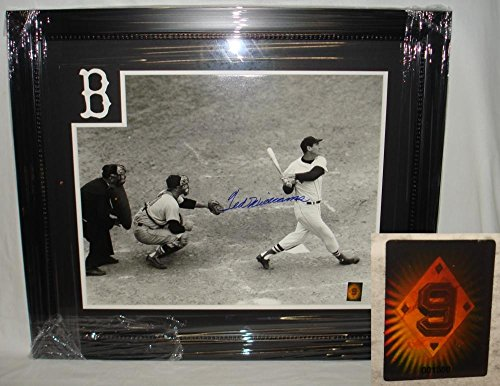 Ted Williams Hand Signed/Autographed Boston Red Sox Home Run 16 x 20 Photo - Custom Framed - Autographed MLB - Mlb Photograph Signed Hand 16x20