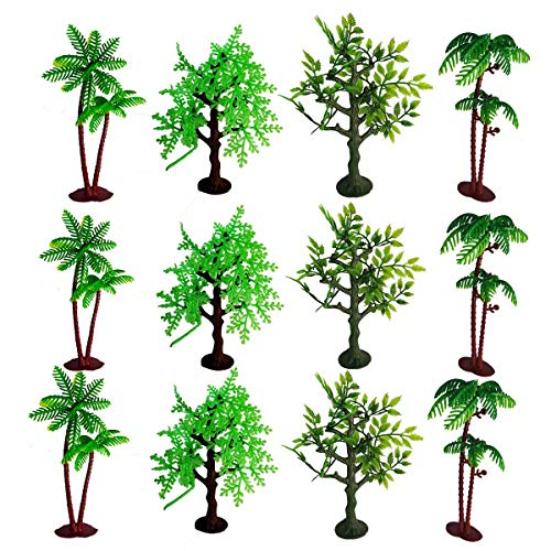 Xplore Toys 12 Pieces 6 inch Model Trees Figurines,for Crafts,Cake Decorating,Scenery Architecture Trees,Building Model,Scenery Landscape