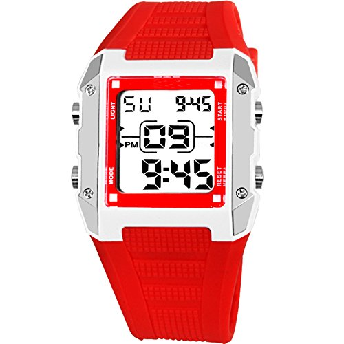 Candy Alarm Chronograph Watch - Children watch waterproof night light alarm clock electronic table candy color-B
