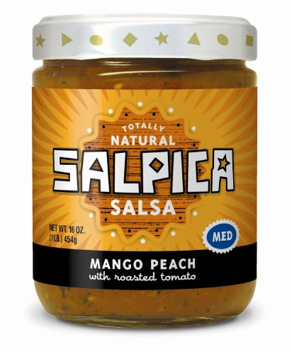 Frontera Foods Inc. Salpica Salsa, Mango Peach, 16-Ounce (Pack of 6)