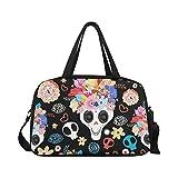 InterestPrint Floral Skull Duffel Bag Travel Tote Bag Handbag Luggage Review
