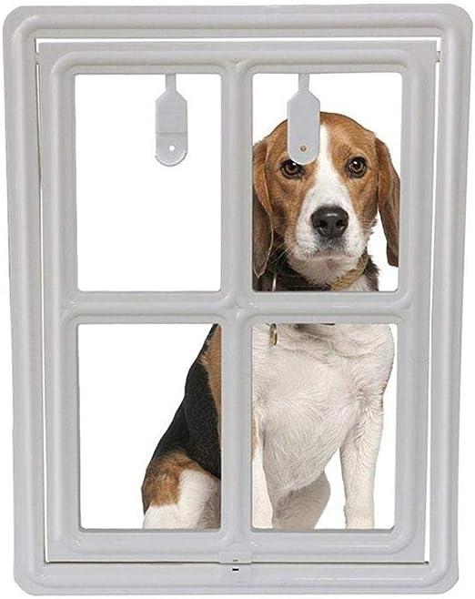 AUOKER Puerta de perro para puerta corredera tercera versión mejorada para colgar cierre magnético automático control inteligente acceso al azar perfecto para gatos perros pequeños a medianos grandes: Amazon.es: Productos para mascotas