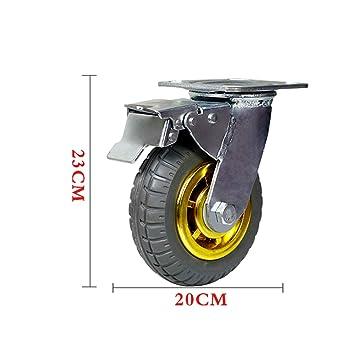 wheel Rueda Universal, Rueda de Goma para Carro pequeño, Ruedas de Carro de Servicio