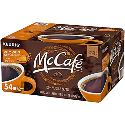 McCafe Pumpkin Spice Coffee K-Cups (18.6 oz., 54 ct.) (pack of 6)